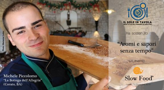 Chef Michele Piccolomo della Bottega dell'Allegria di Corato